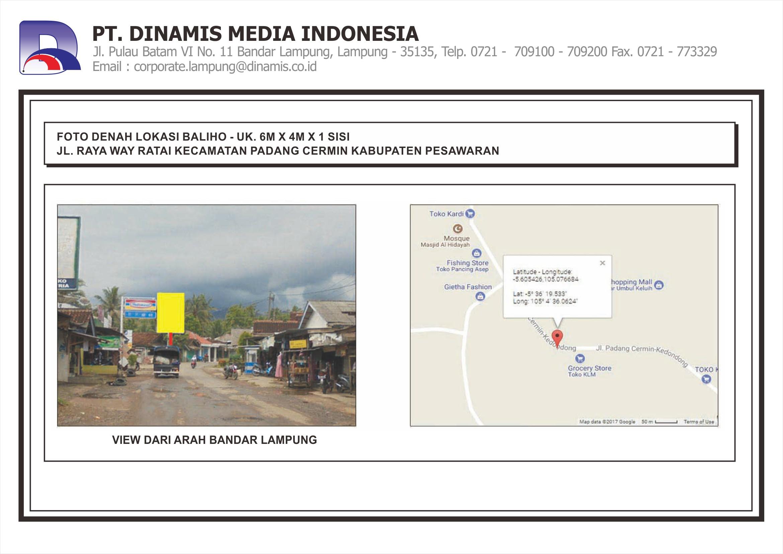 [Baliho] Jl. Raya Way Ratai Kecamatan Padang Cermin Pesawaran