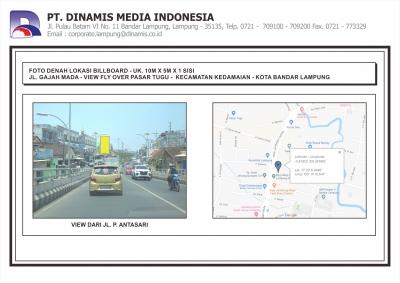 FDL BB 10mx5m Jl. Gajah Mada View Flyover Pasar Tugu