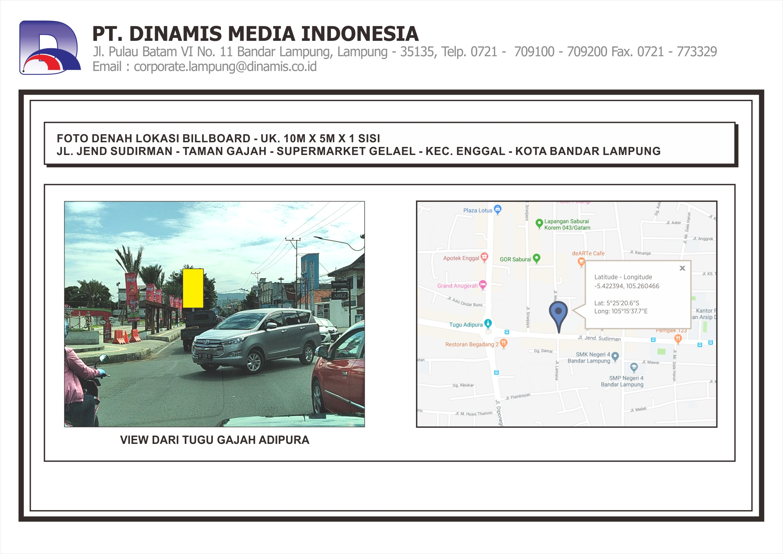 FDL BB 10mx5m Jl. Jend Sudirman Taman Gajah Gelael B.Lampung