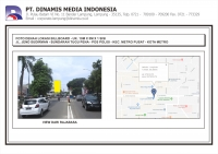 FDL BB 10mx5m Jl. Jend. Sudirman - Bundaran Tugu Pena Pos Polisi - Metro