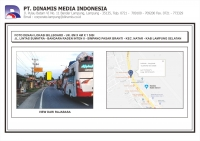 FDL BB 8mx4m Jl. Lintas Sumatra - Bandara Raden Intan II - Simp. Pasar Branti