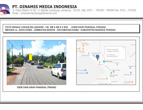 [Billboard] Median Jl. Raya Koba Jembatan Berok Koba Bangka Tengah