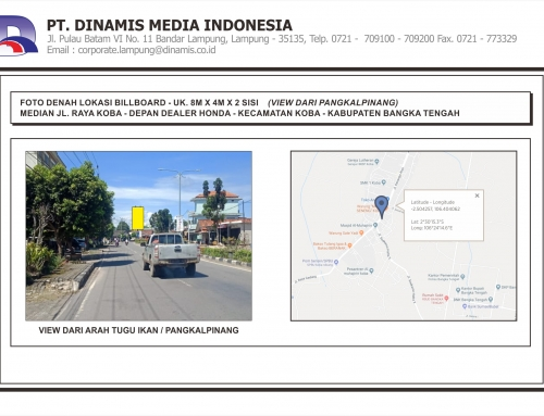 [Billboard] Median Jl. Raya Koba Dealer Honda Koba Bangka Tengah
