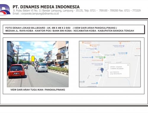 [Billboard] Median Jl. Raya Koba Kantor Pos Bank BNI Koba Bangka Tengah