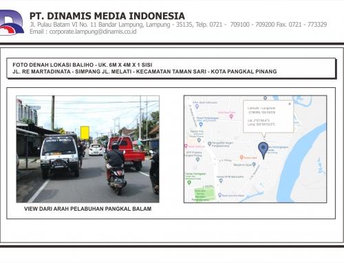 [Baliho] Jl. RE Martadinata Simpang Jl. Melati Pangkal Pinang