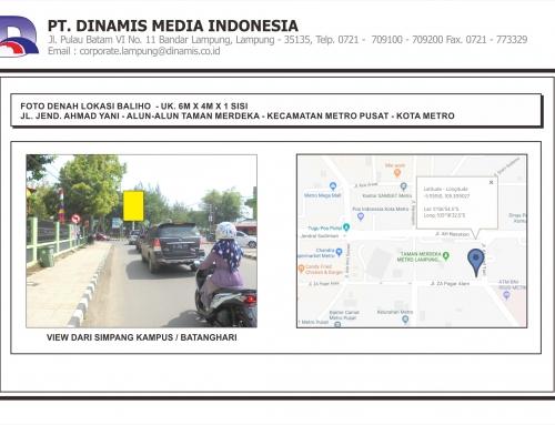 [Baliho] Jl. Jend Ahmad Yani – Alun Alun Taman Merdeka – Kota Metro