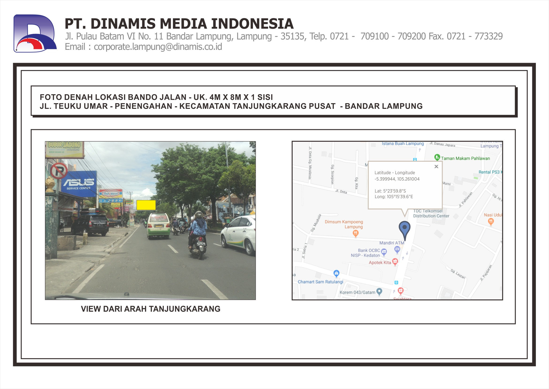 FDL Bando 4mx8m Jl. Teuku Umar - Penengahan - Bandar Lampung
