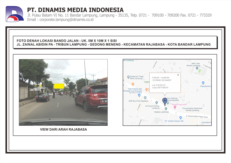 FDL Bando 4mx8m Jl. ZA Pagar Alam - Tribun Lampung - Bandar Lampung