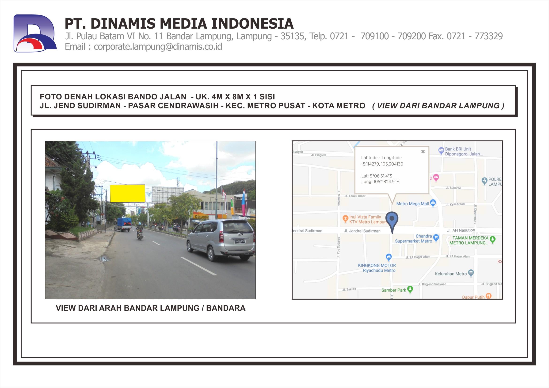 [Bando] Jl. Jend. Sudirman – Pasar Cendrawasih Metro